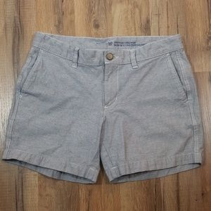 GAP blue and white finely striped shorts.